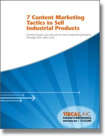 content marketing tactics for selling industrial products