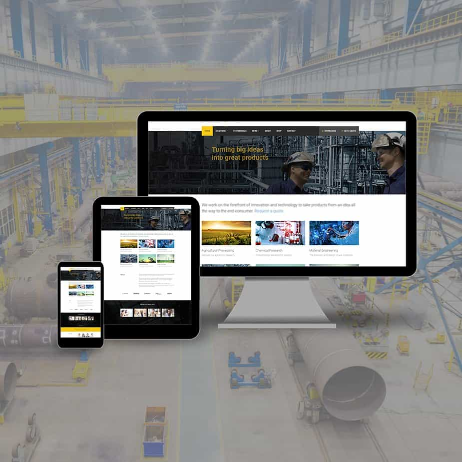industrial website design & development