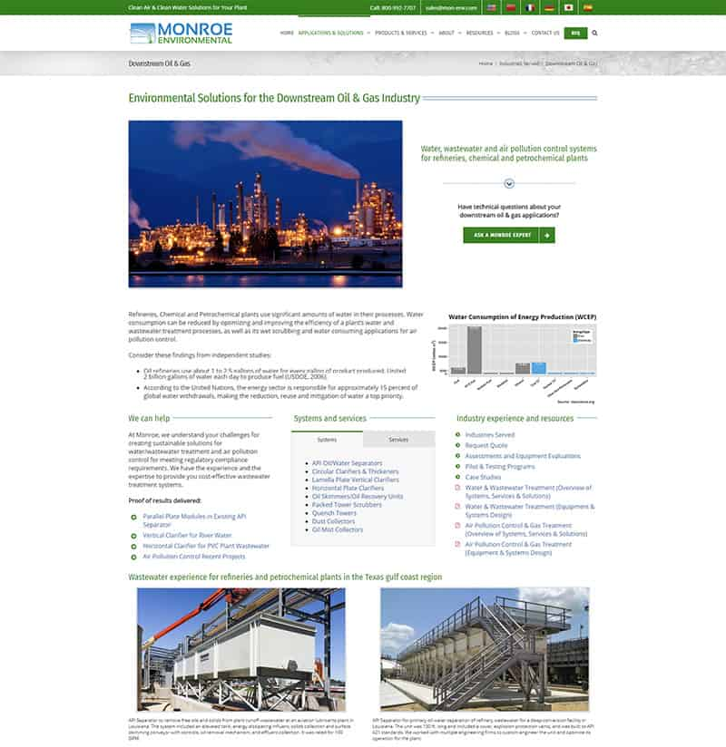 industrial marketing consulting - MEC API Separator page