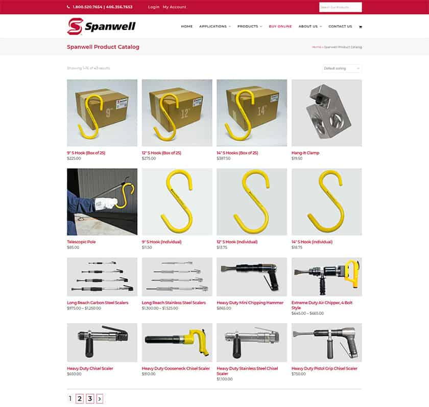 Industrial e-commerce site