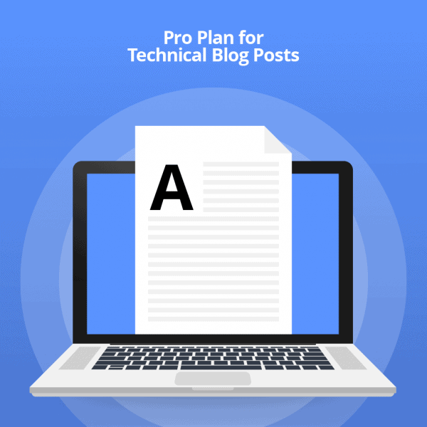 Technical blog post writing - Pro Plan