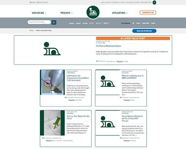 Writing industrial blog posts - Indium Corporation blog