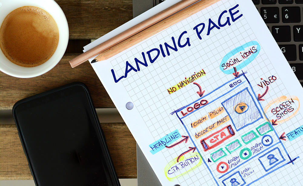 Landing pages for industrial lead generation